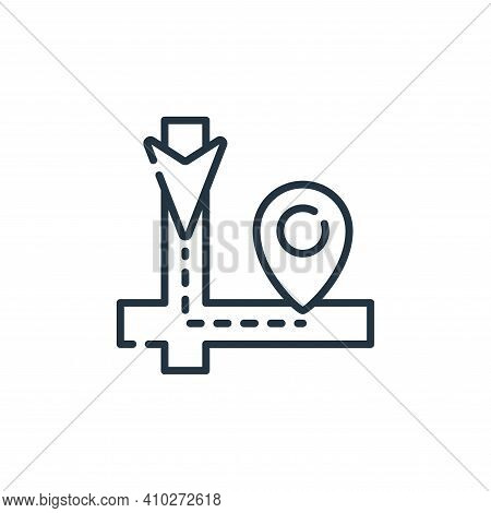 route icon isolated on white background from navigation and maps collection. route icon thin line ou