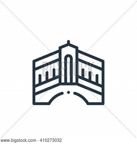 rialto bridge icon isolated on white background from europe collection. rialto bridge icon thin line