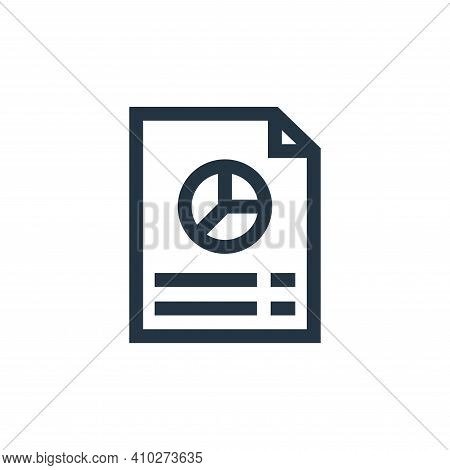 report icon isolated on white background from marketing and growth collection. report icon thin line