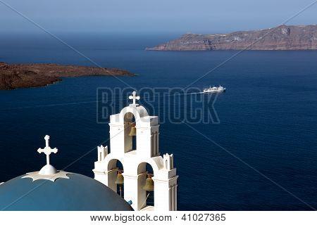 Firostefani Church, Santorini, Greece.