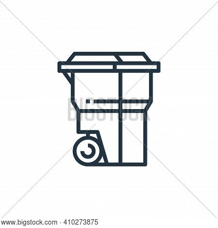 recycle bin icon isolated on white background from recycling collection. recycle bin icon thin line