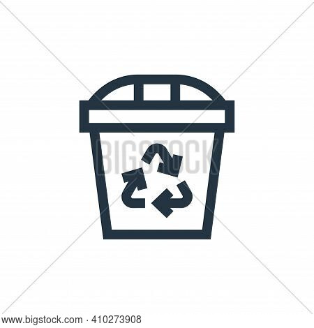 recycle bin icon isolated on white background from mother earth day collection. recycle bin icon thi