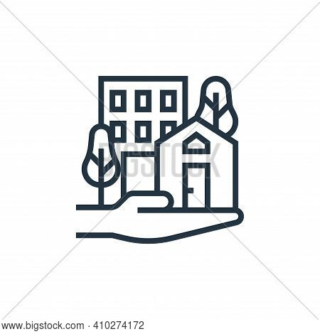 real estate icon isolated on white background from economic crisis collection. real estate icon thin