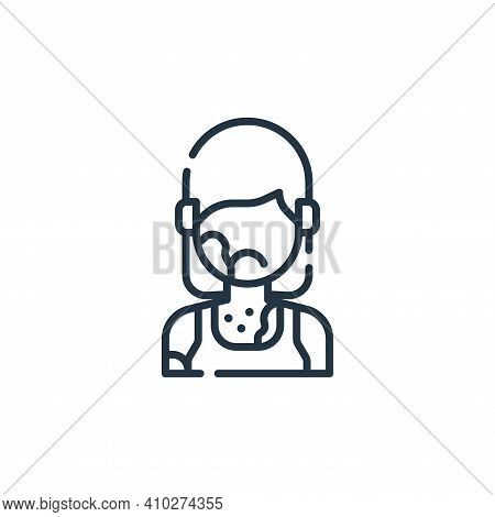 rash icon isolated on white background from allergies collection. rash icon thin line outline linear