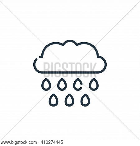rain icon isolated on white background from climate change collection. rain icon thin line outline l