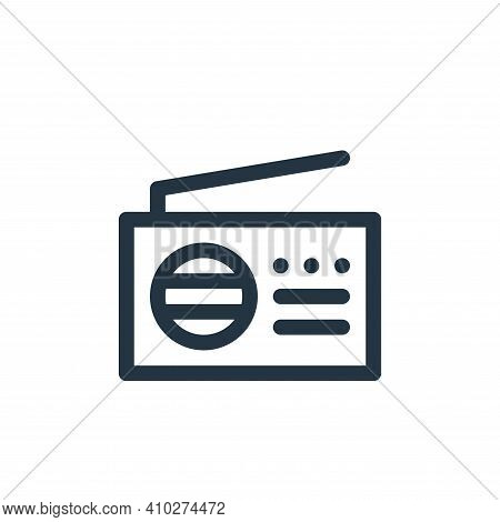 radio icon isolated on white background from communication and media collection. radio icon thin lin