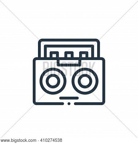 radio icon isolated on white background from electronic devices collection. radio icon thin line out