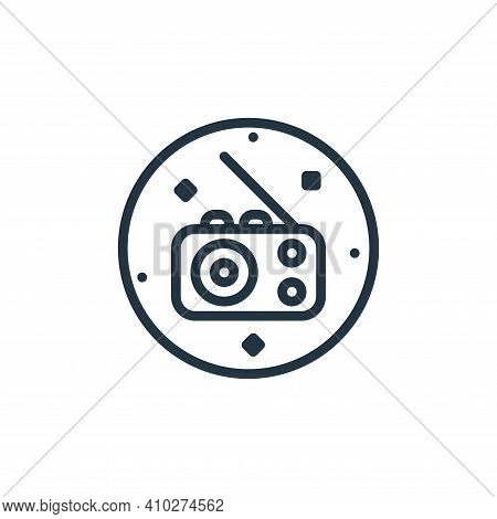 radio icon isolated on white background from music and sound collection. radio icon thin line outlin