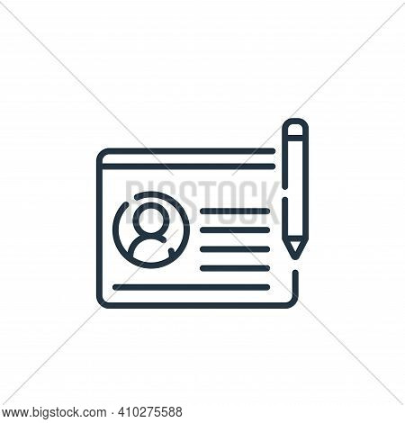 profile icon isolated on white background from social media collection. profile icon thin line outli