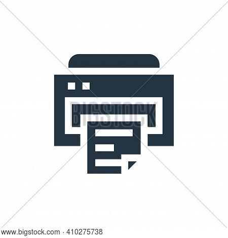 printer icon isolated on white background from advertisement collection. printer icon thin line outl