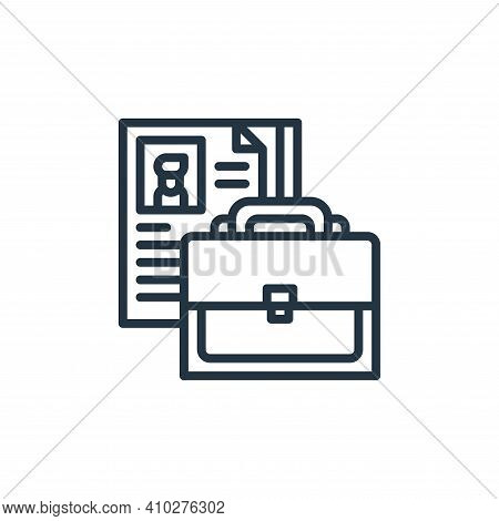 portfolio icon isolated on white background from graphic design collection. portfolio icon thin line