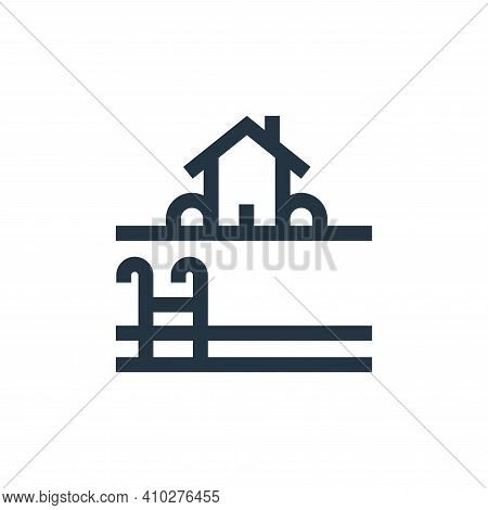 pool icon isolated on white background from real estate collection. pool icon thin line outline line