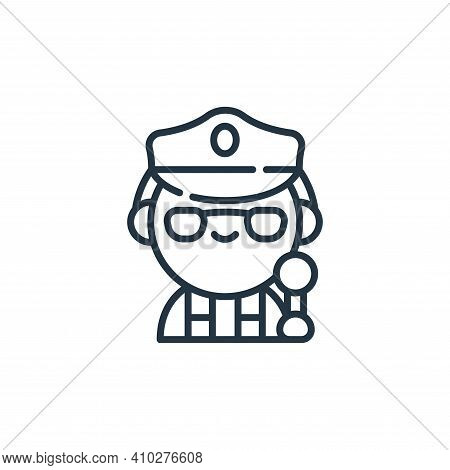 police icon isolated on white background from labour day collection. police icon thin line outline l
