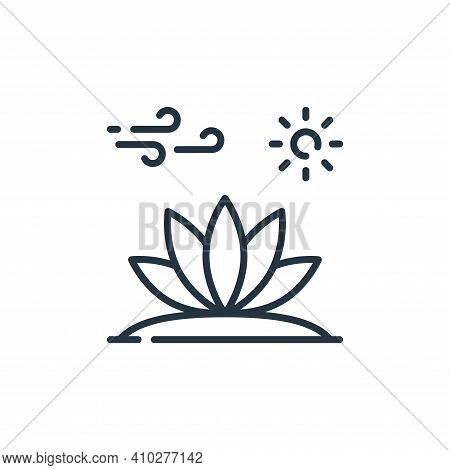 plant icon isolated on white background from desert collection. plant icon thin line outline linear
