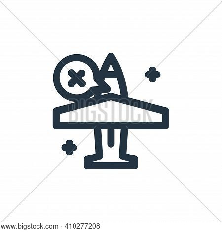 plane icon isolated on white background from coronavirus collection. plane icon thin line outline li