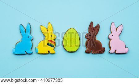 Lgbt Ornament. Happy Easter. Diversity Freedom. Festive Pastry Decoration. Colorful Gingerbread Egg