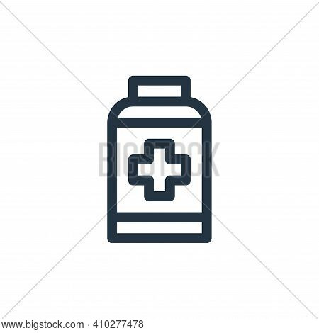 pills icon isolated on white background from emergencies collection. pills icon thin line outline li