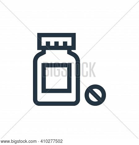 pills icon isolated on white background from pharmacy collection. pills icon thin line outline linea