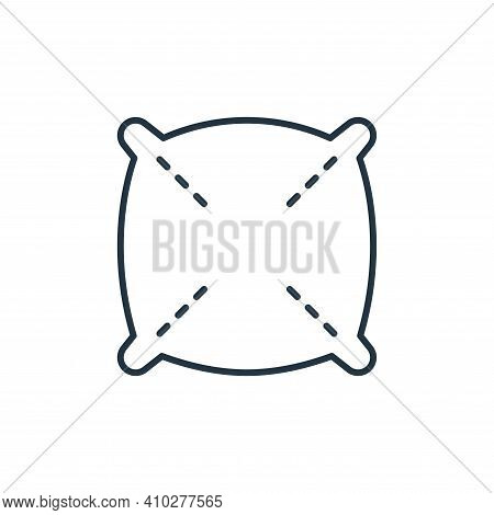 pillow icon isolated on white background from interiors collection. pillow icon thin line outline li