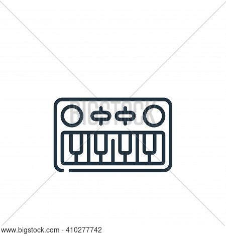 piano keyboard icon isolated on white background from music collection. piano keyboard icon thin lin