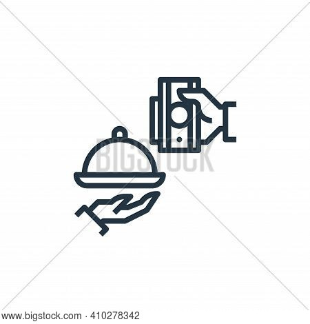 payment icon isolated on white background from food delivery collection. payment icon thin line outl
