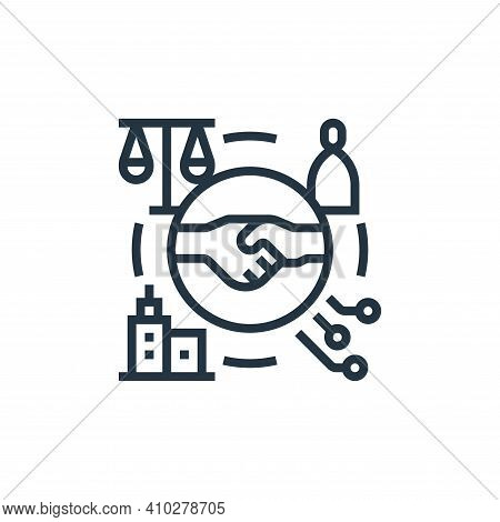 partnership icon isolated on white background from business risks collection. partnership icon thin