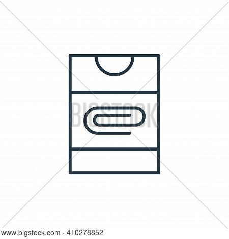 paper clip icon isolated on white background from stationery collection. paper clip icon thin line o