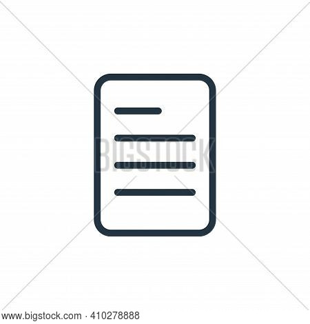 paper icon isolated on white background from work office supply collection. paper icon thin line out