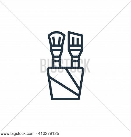 paint brush icon isolated on white background from stationery collection. paint brush icon thin line