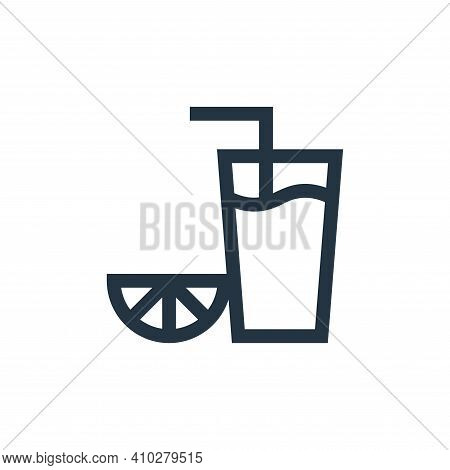 orange juice icon isolated on white background from alternative medicine collection. orange juice ic