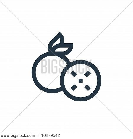 orange icon isolated on white background from mental health collection. orange icon thin line outlin