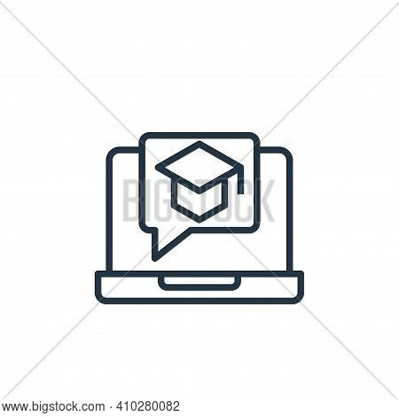online education icon isolated on white background from stay at home collection. online education ic