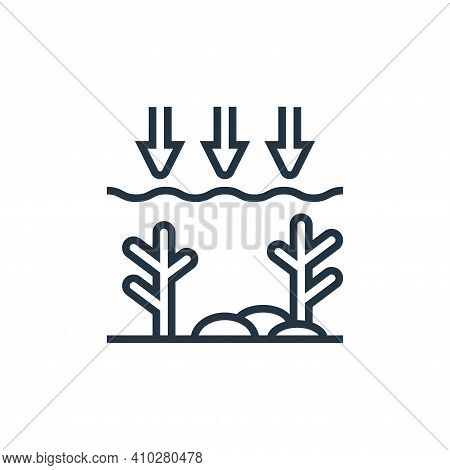 ocean icon isolated on white background from climate change collection. ocean icon thin line outline