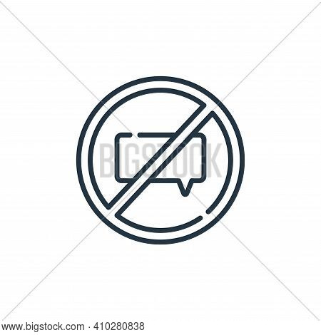 no talking icon isolated on white background from signals and prohibitions collection. no talking ic