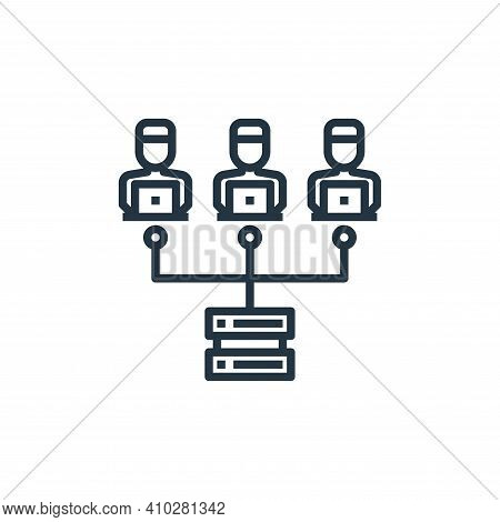 networking icon isolated on white background from working from home collection. networking icon thin