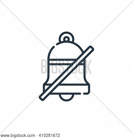 mute icon isolated on white background from calendar and date collection. mute icon thin line outlin