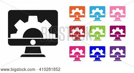 Black Software, Web Development, Programming Concept Icon Isolated On White Background. Programming