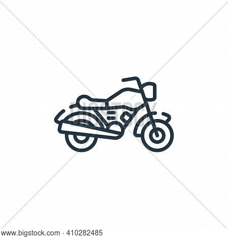 motorcycle icon isolated on white background from free time collection. motorcycle icon thin line ou