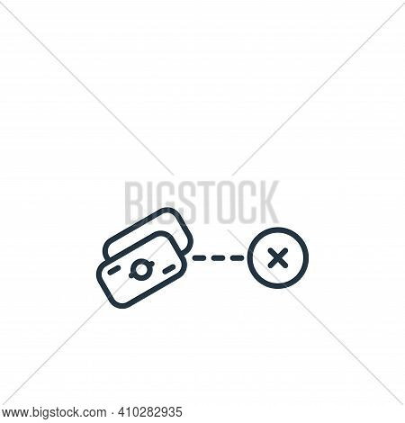 money icon isolated on white background from shipping and delivery collection. money icon thin line