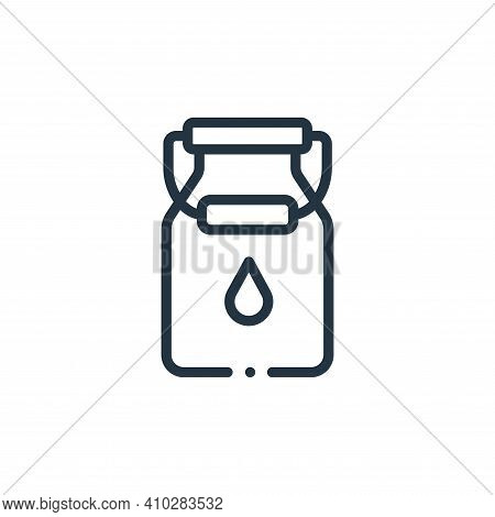 milk icon isolated on white background from in the village collection. milk icon thin line outline l