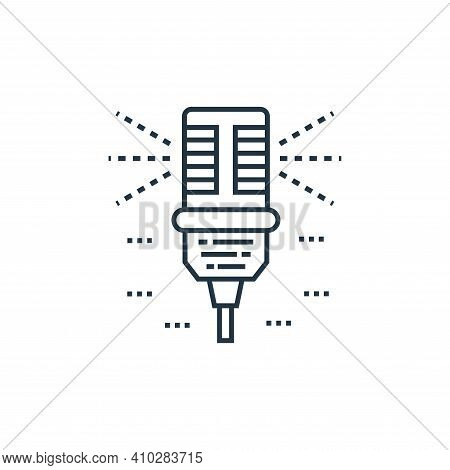 microphone icon isolated on white background from technology devices collection. microphone icon thi