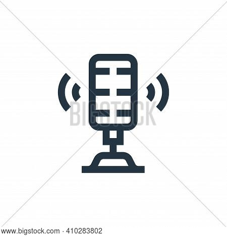 microphone icon isolated on white background from news collection. microphone icon thin line outline