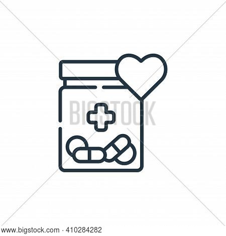 medicine icon isolated on white background from kindness collection. medicine icon thin line outline