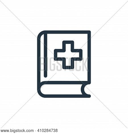 medical book icon isolated on white background from medical tools collection. medical book icon thin