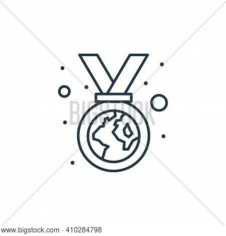 medal icon isolated on white background from earth day collection. medal icon thin line outline line