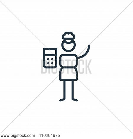 maths icon isolated on white background from general arts collection. maths icon thin line outline l