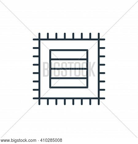 mat icon isolated on white background from interiors collection. mat icon thin line outline linear m