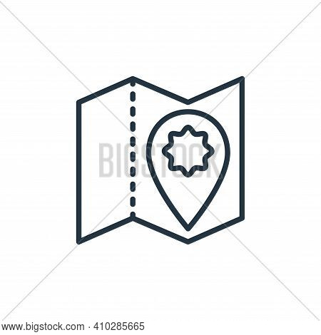 map icon isolated on white background from stop virus collection. map icon thin line outline linear