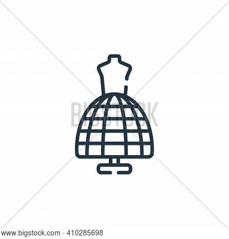 mannequin icon isolated on white background from sewing collection. mannequin icon thin line outline