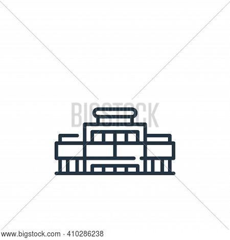 mall icon isolated on white background from mall collection. mall icon thin line outline linear mall